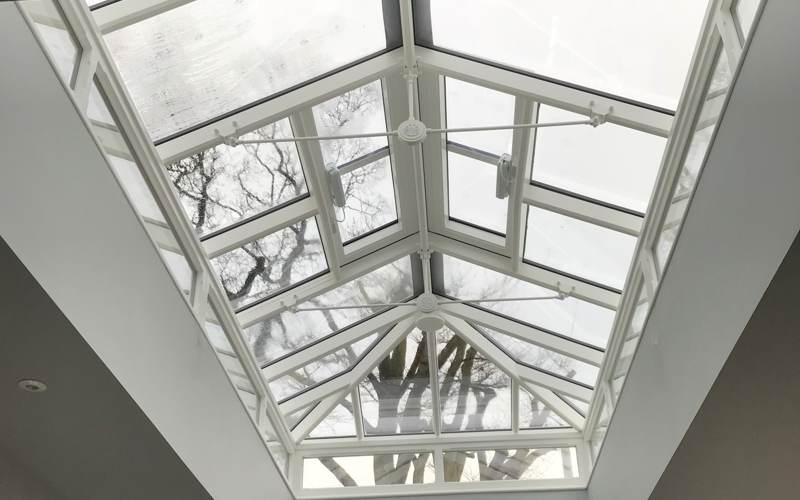 Internal shot of a Roof Lantern